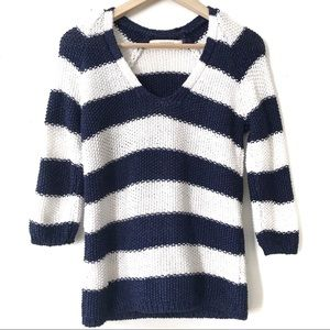 Zara Knit Nautical Striped Pullover Sweater Small